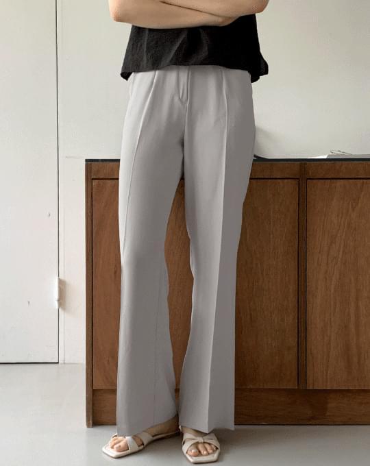 Summit Pintuck Straight Long Slacks Pants - 4 color
