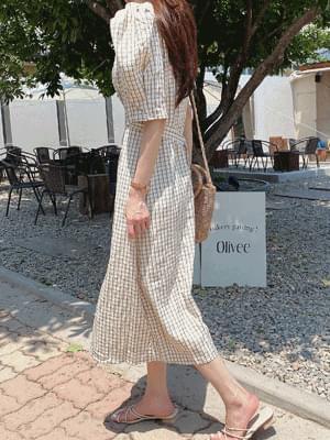 Land Check Square Dress