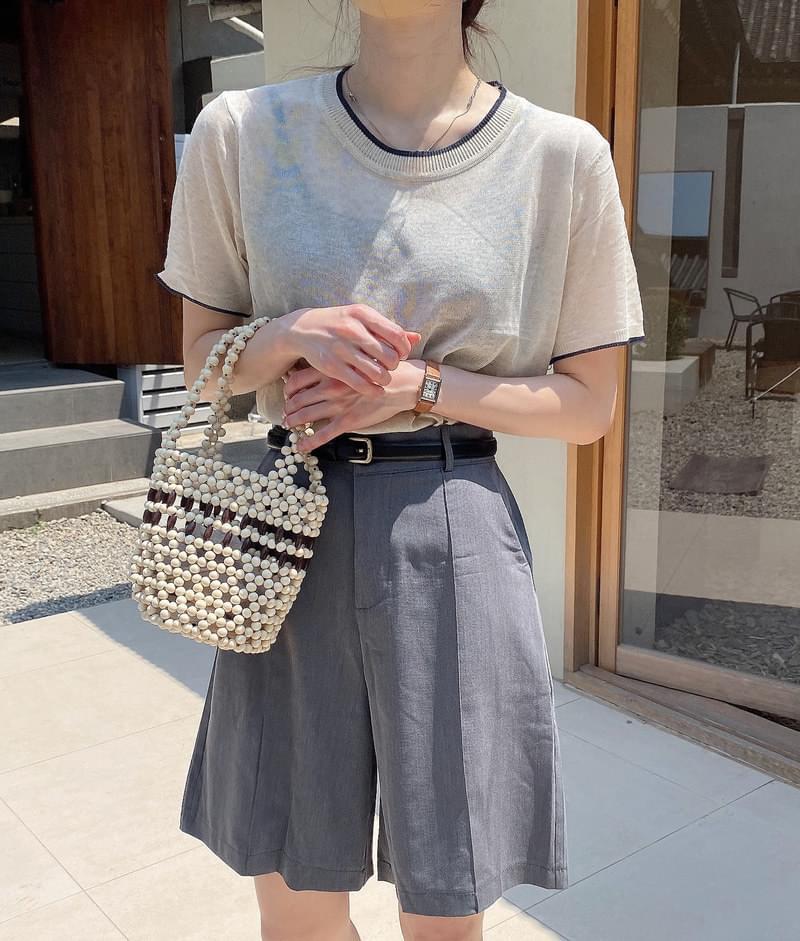 Wood Color Knitwear