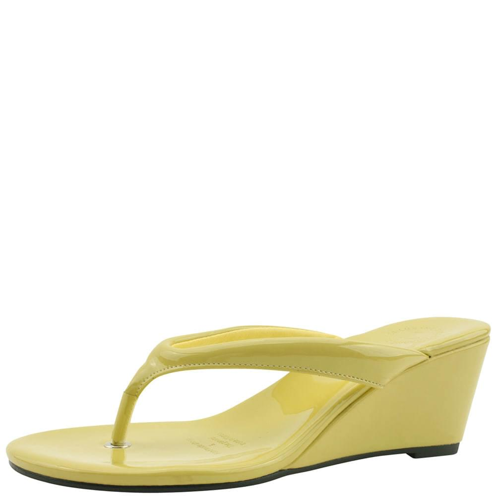 Flip Flops Middle Wedge Heel Mules Slippers Yellow