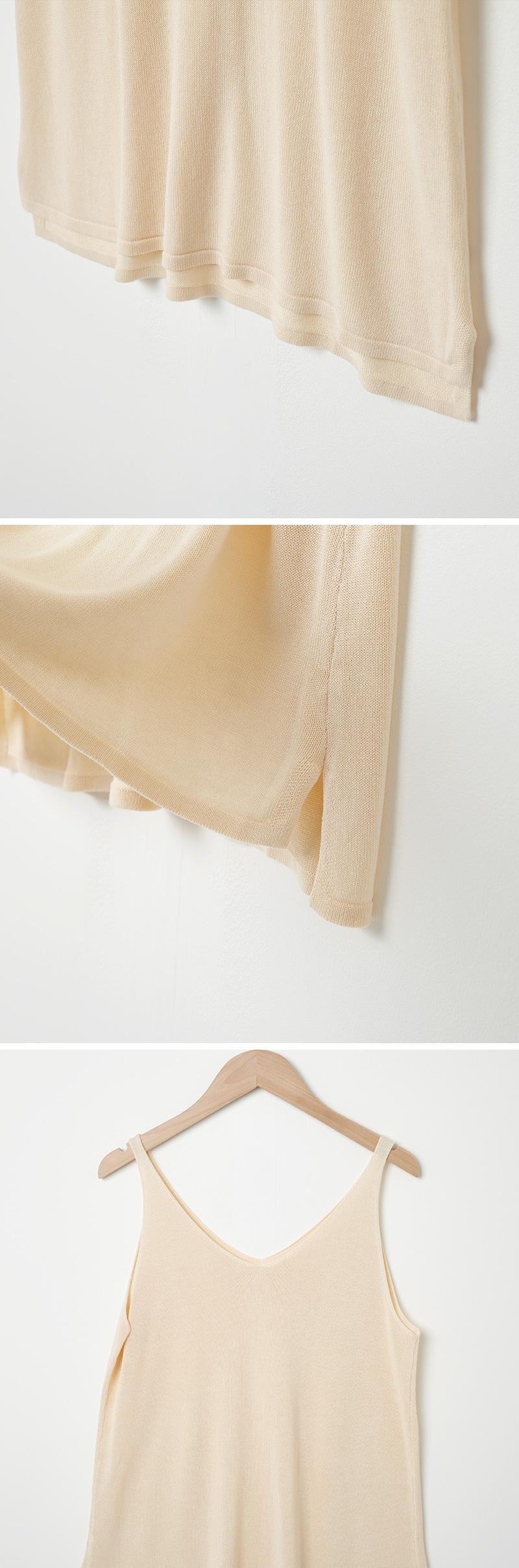 Mi Knitwear Im V Neck Knit Sleeveless