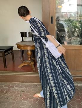 Ethnic Rob Long Dress