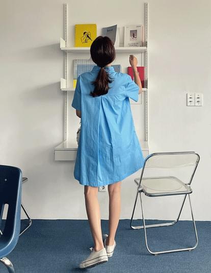 knotted shirt mini Dress