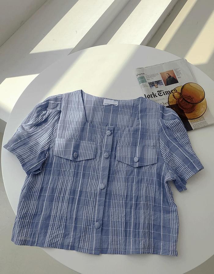 knee square blouse
