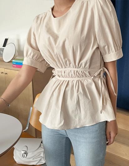cored cotton blouse
