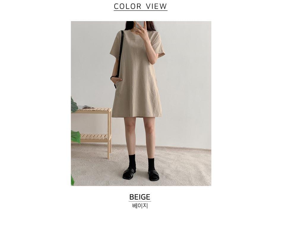 Edith linen Dress recommended for short girls