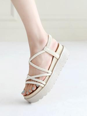 Soft heel slingback sandals 5cm