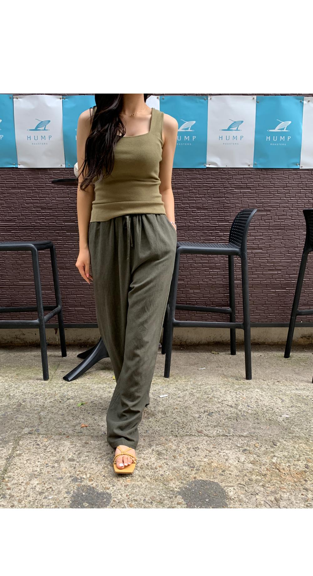 Mui Linen Banding Pants