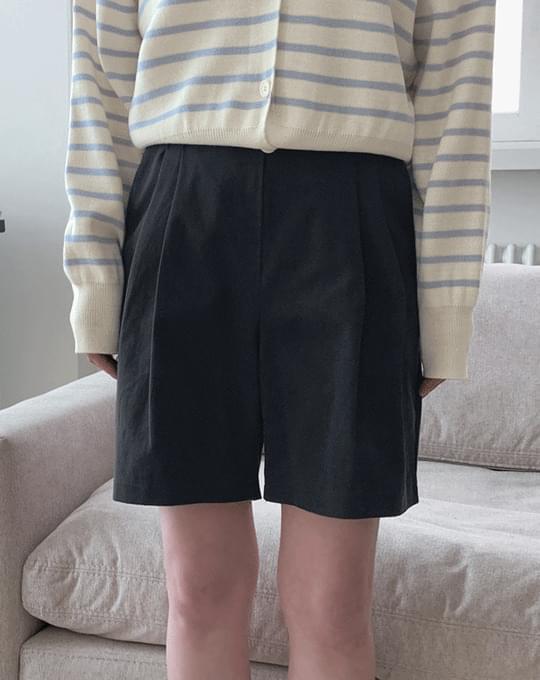 Tuckle Pintuck Part 4 Cotton Pants - 2 color