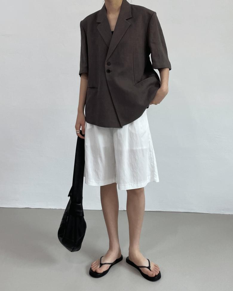 Onew Linen Overfit Short Sleeve Jacket