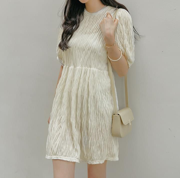Wrinkled Mini Dress