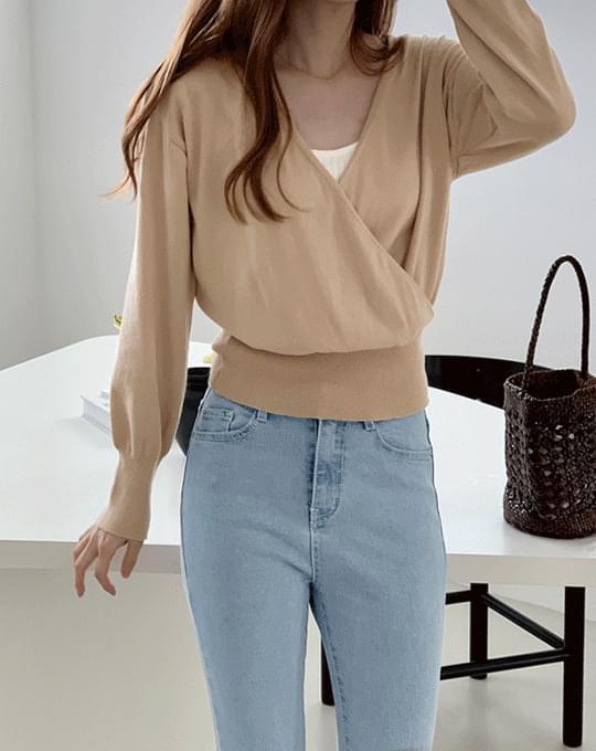 Soft Cotton Wrap Knitwear - 3 color