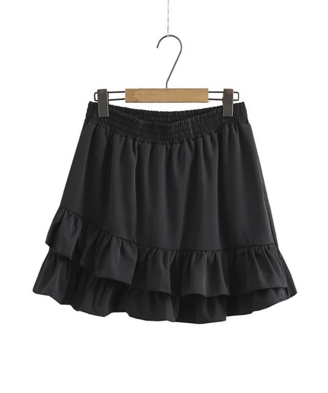 Big Size 28-40 Inch Double Shirring Cancan Skirt