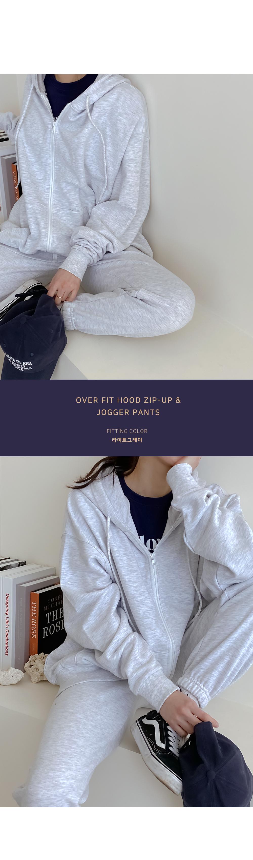 Big Size 55-120 Deg Over Fit Zuri Hood Zip-Up