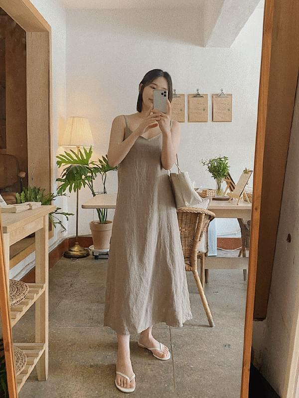 Leone Linen Slip Dress