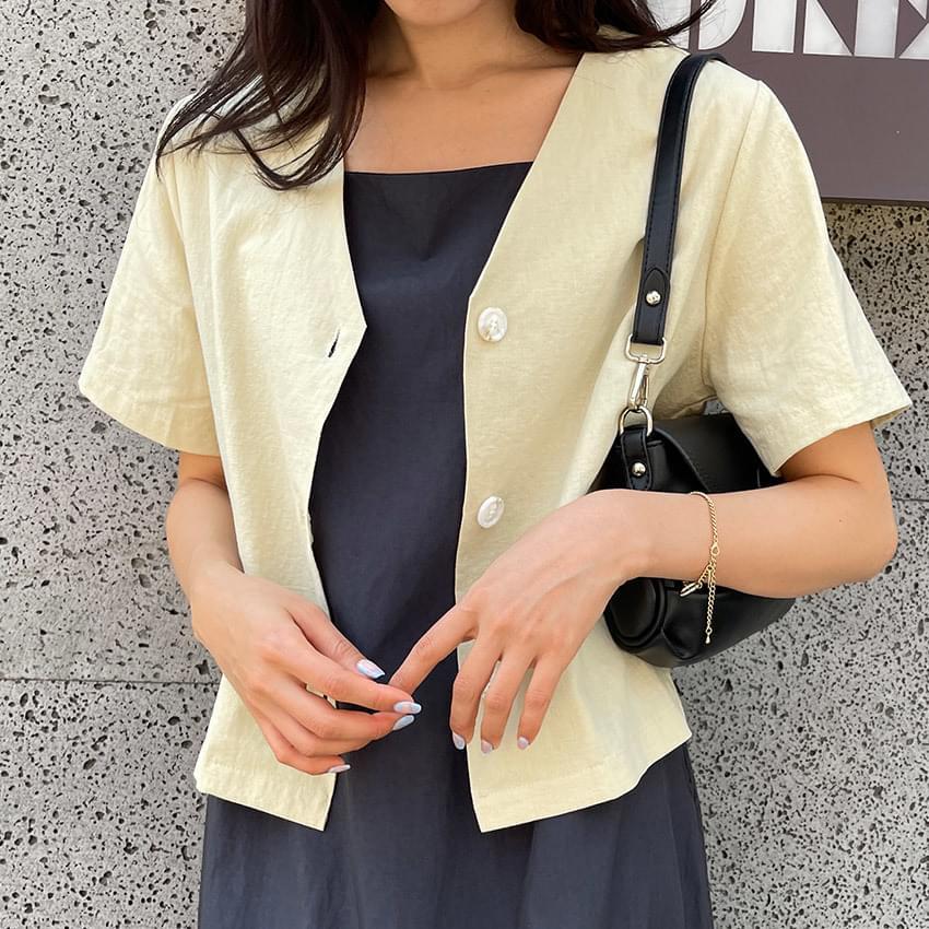 Sarah linen cropped jacket
