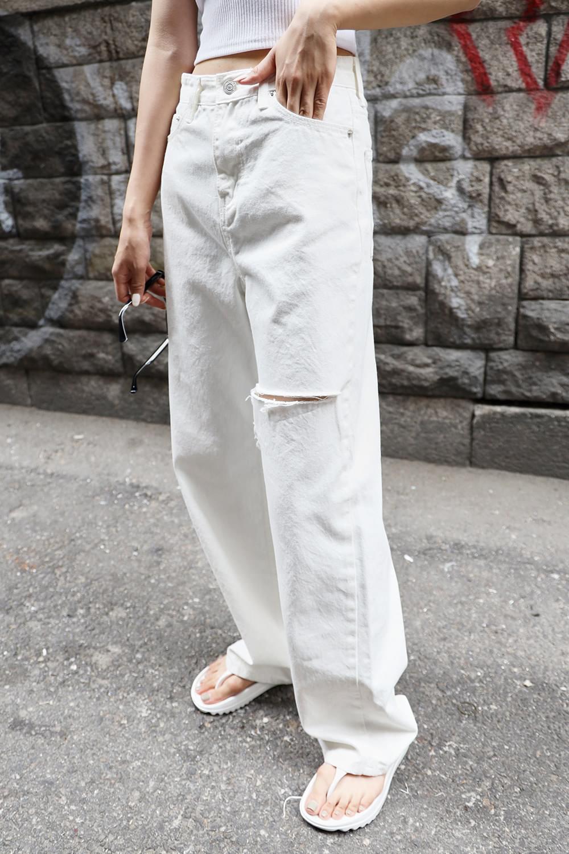 Vintage cut-off white Jean