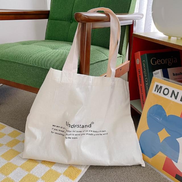 Poring Lettering Eco Bag 帆布包