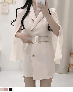 Susa sleeve slit belt Dress
