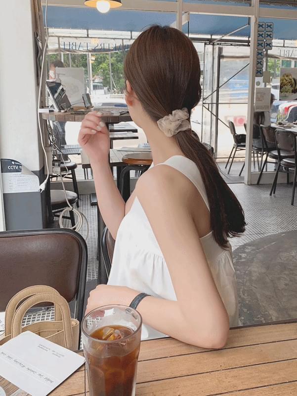see-through hair tie