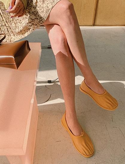 Aori pleated flat shoes