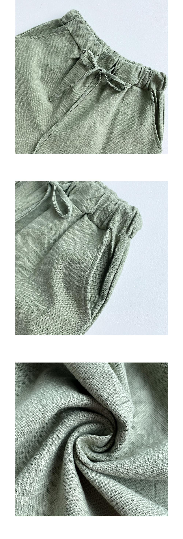 26-30 Inch Cozy Banding Wide Linen Pants