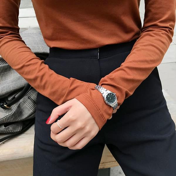 clark casio metal watch