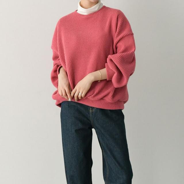 Wide Ribbed Striped Knitwear