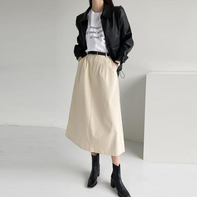 Big 26-32 Inch Io Cotton Banding Long Skirt