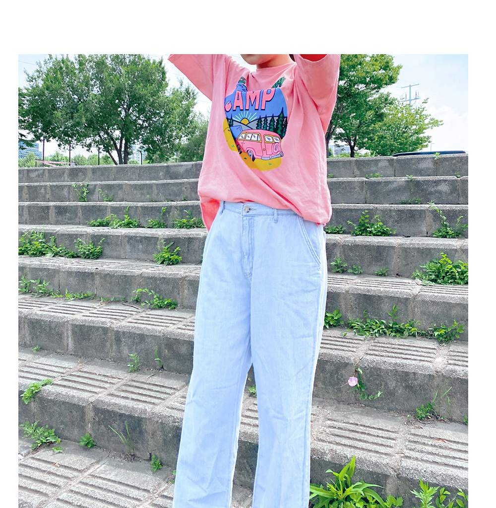 Linen Light Blue Blue Wide Back Banding Jeans Big Size 28-38 Inch