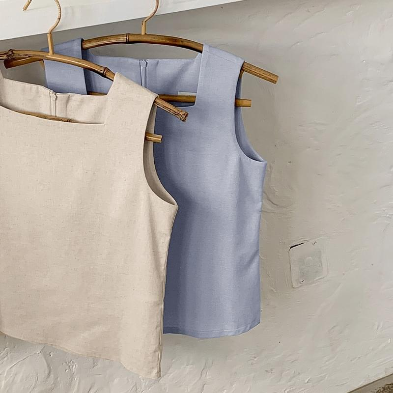 Day Square Sleeveless Blouse - 2 color