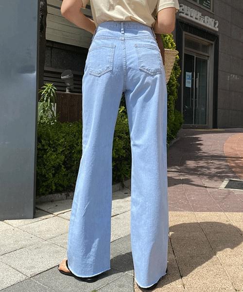 Kind high-waisted wide jeans 牛仔褲