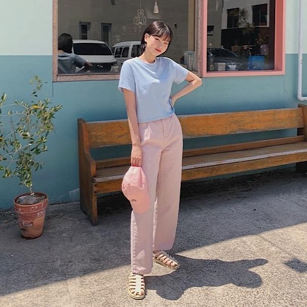 Indie Pink Pintuck Cotton Pants