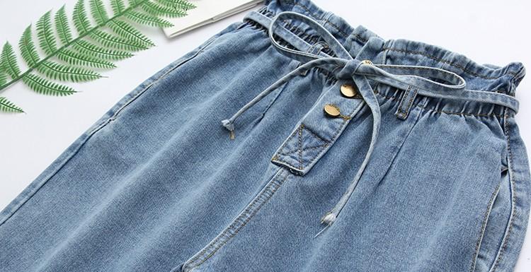 String Belt Full Banding Light Blue Blue Jeans Big Size XL-4XL 28-40 Inch