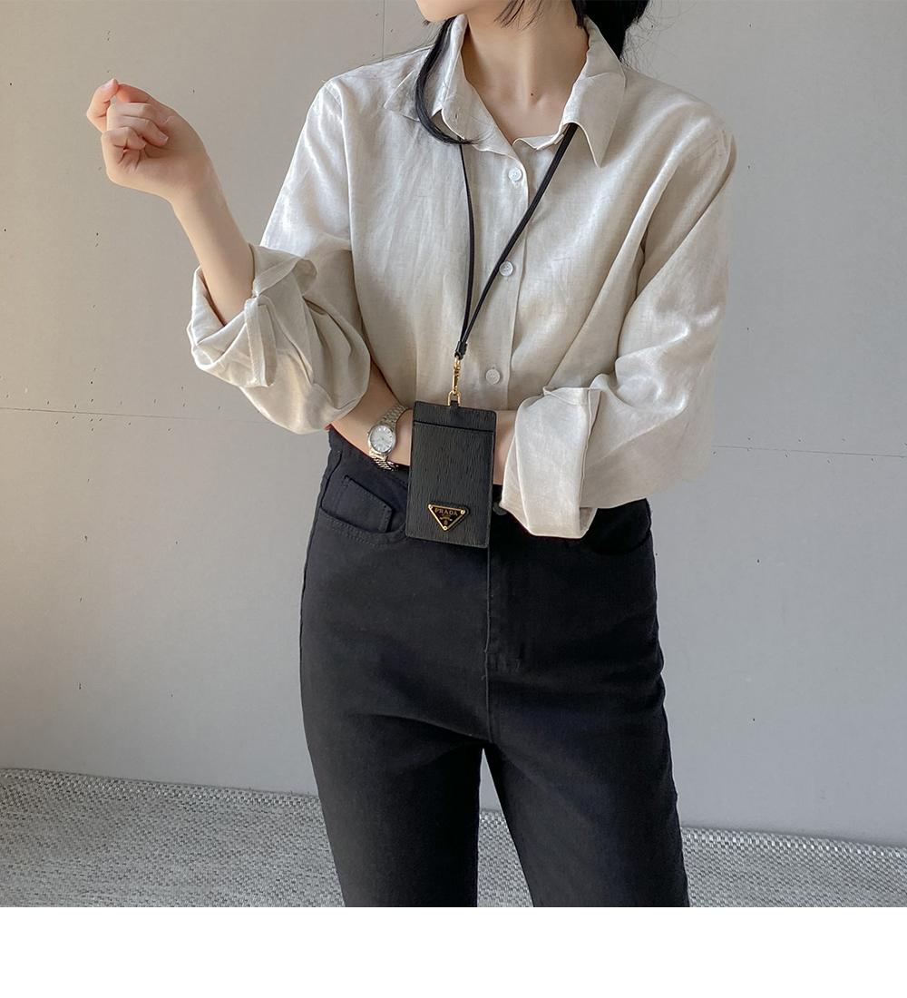 Big size 55-88 drippin boxy Boxy-fit cotton shirt