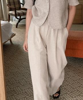 Rotay Pintuck Linen Pants