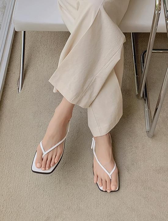olive flip-flop sandals