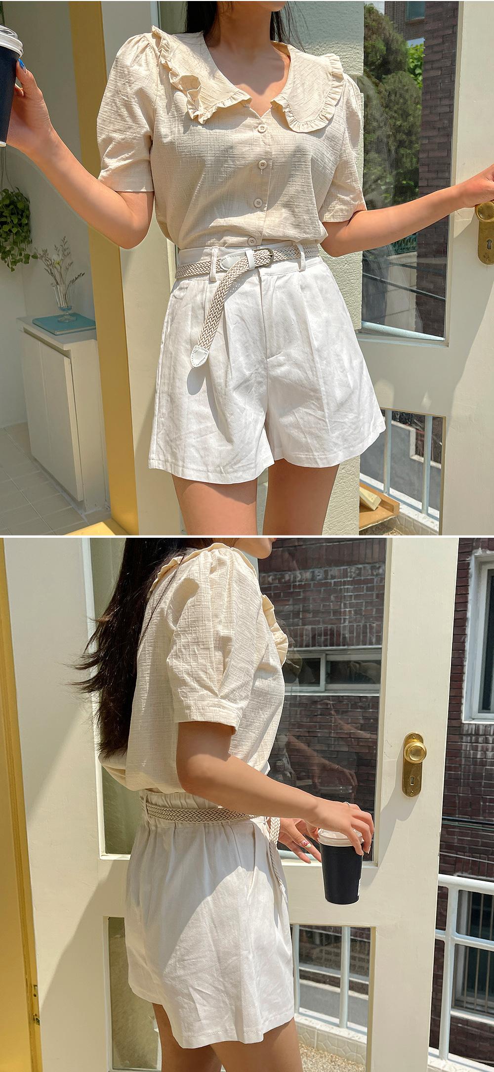 cream collar blouse