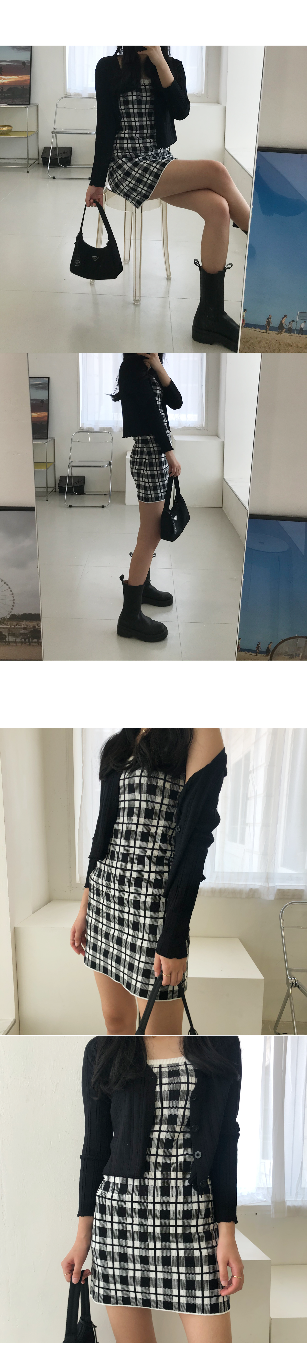 Heize Dress+ Cardigan Set