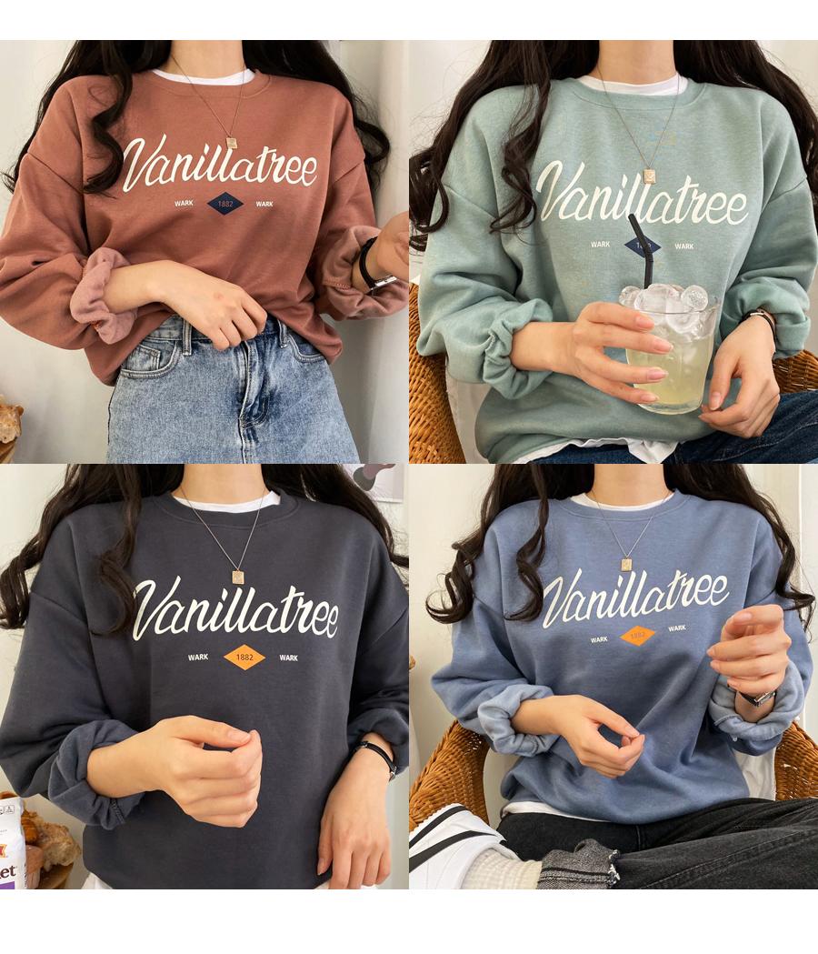 Vanilla Fleece-lined Sweatshirt