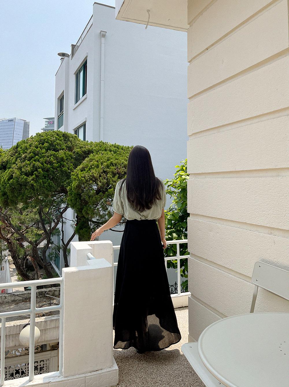 sky sky long skirt