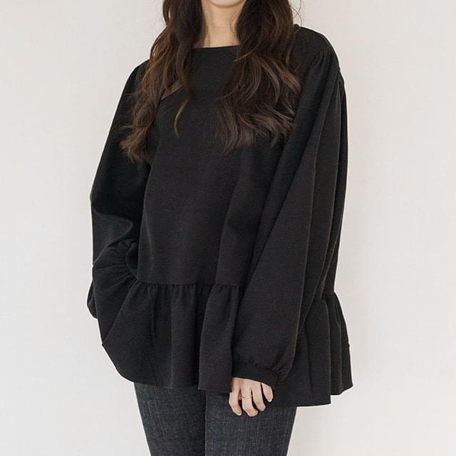 Big Size 55-99 Momo Ruffle Loose-fit Fit Blouse