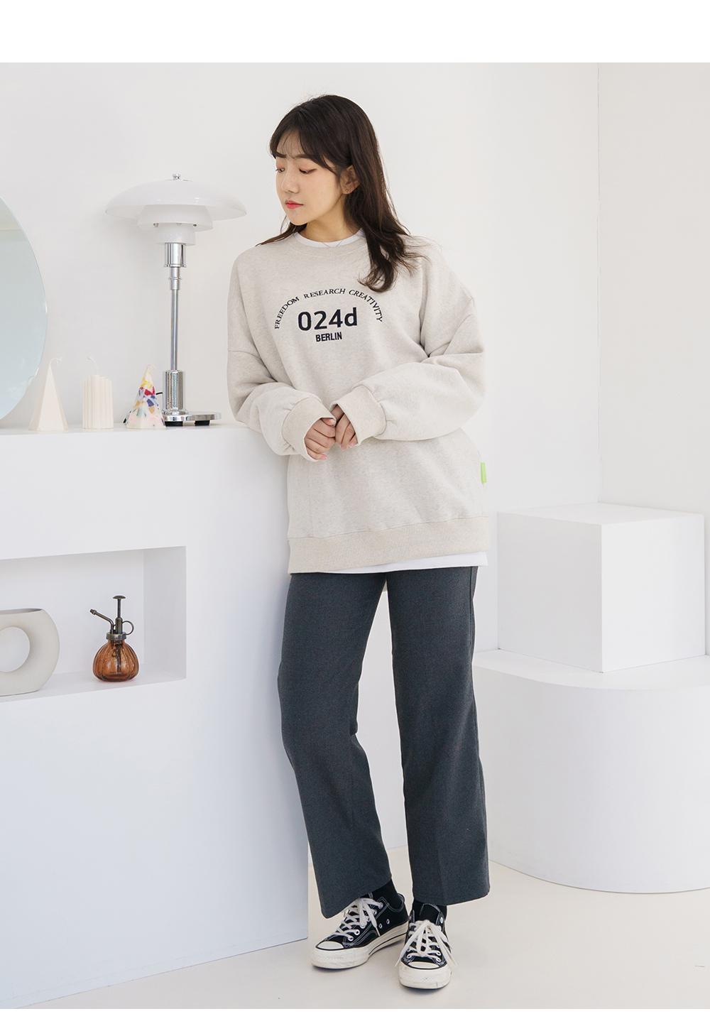 Big size 26-30 inch daily semi-wide straight slacks