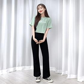 Day Flared Banding Trousers