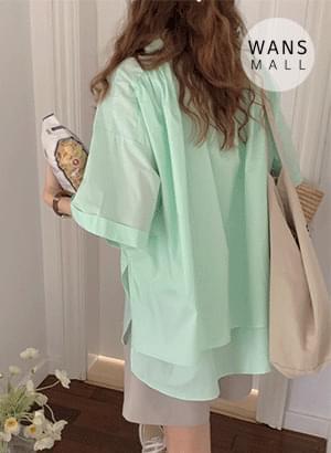 nb4915 minted loose Loose-fit short sleeve shirt