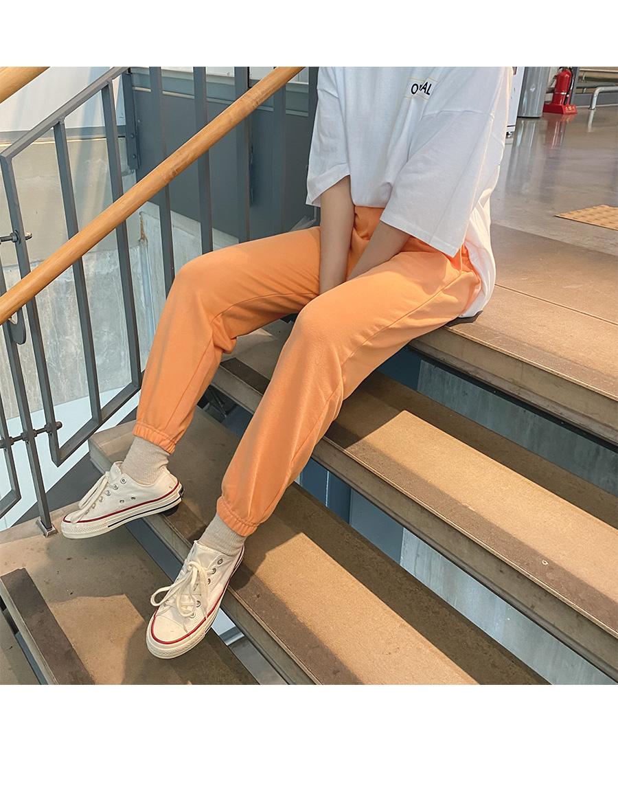 Big size 26-38 inch colorful banding jogger pants