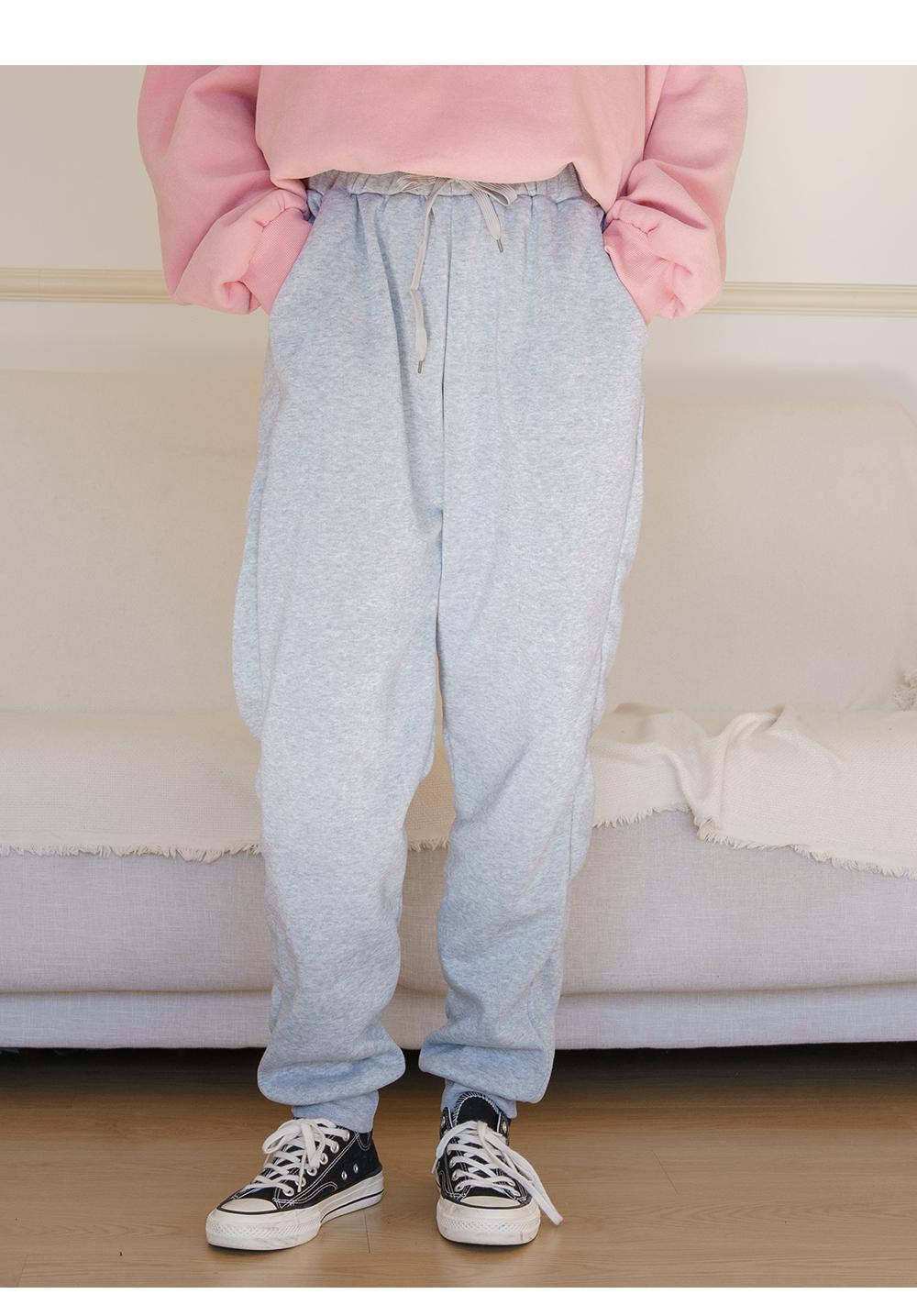 Big Size 28-36 Inch Ate Fleece-lined Banding Jogger Pants