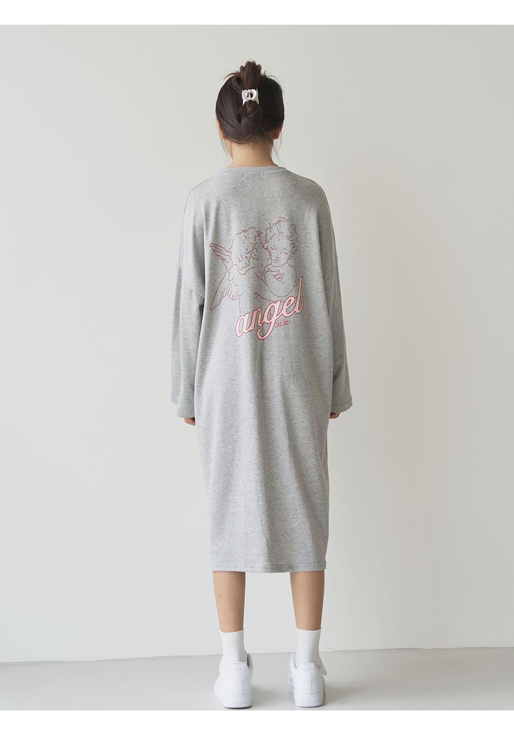 Angel Print Long Dress Big Size 66-99