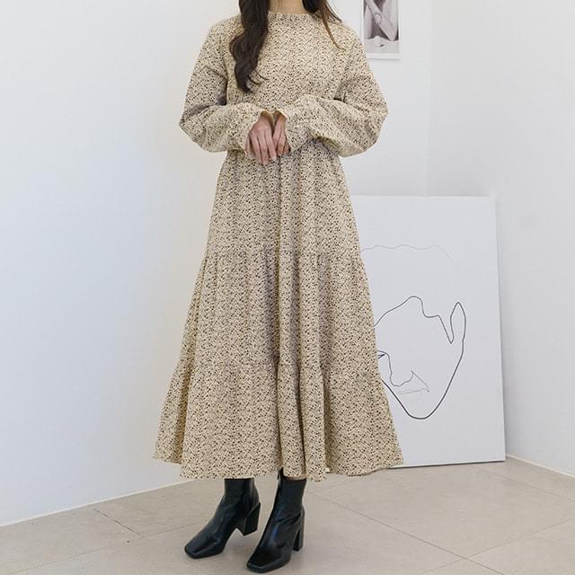 Big Size 55-120 Randy Flower Cancan Long Dress