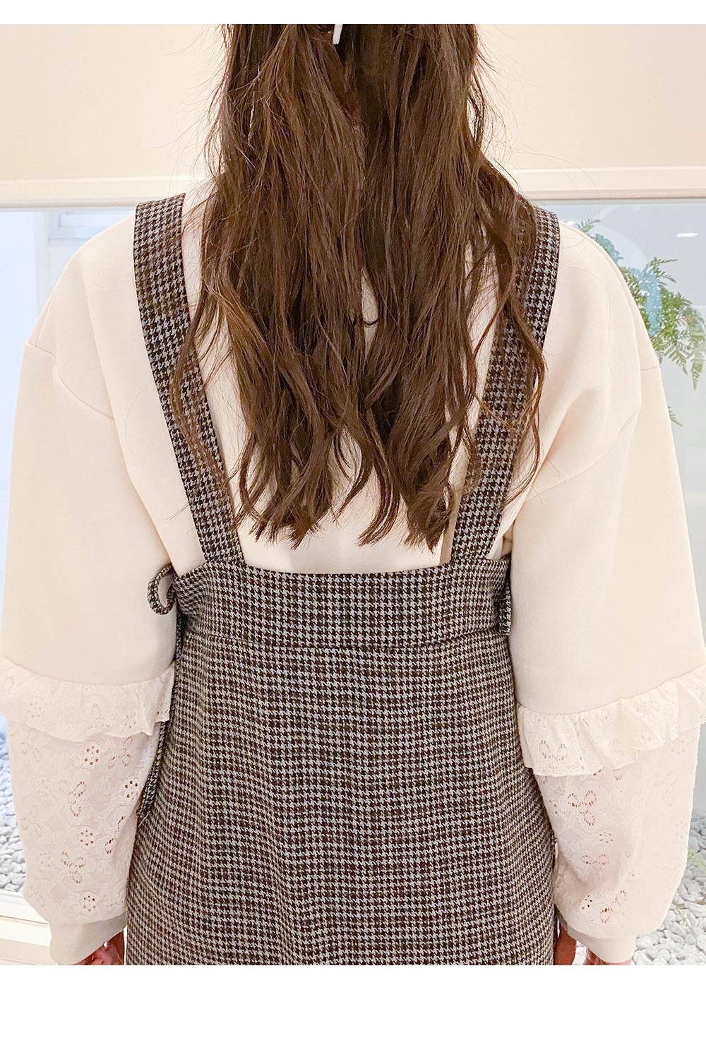 Big Size 66-99 Hershey Loose-fit ruffle Sweatshirt